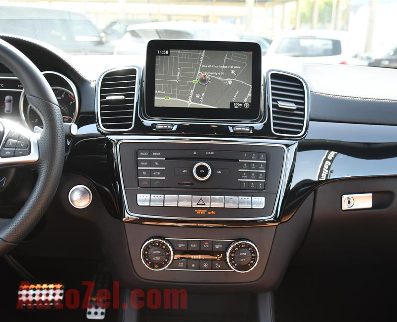 MERCEDES-BENZ GLE43- 2019- WHITE- GCC SPECS- BROWN INTERIOR COLOR