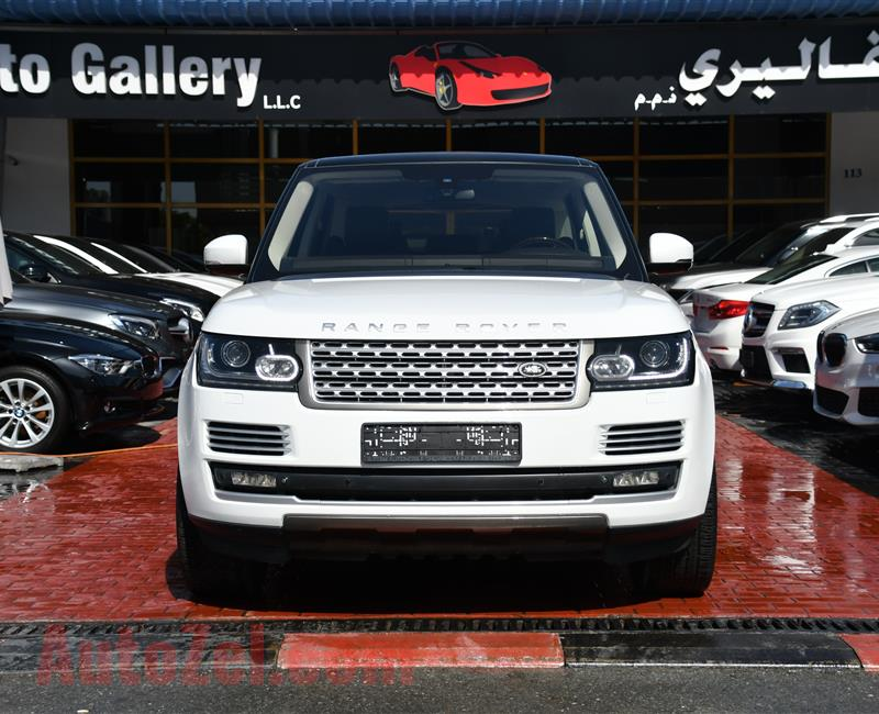 RANGE ROVER VOGUE SUPERCHARGED- 2014- WHITE- 120 000 KM- GCC SPECS