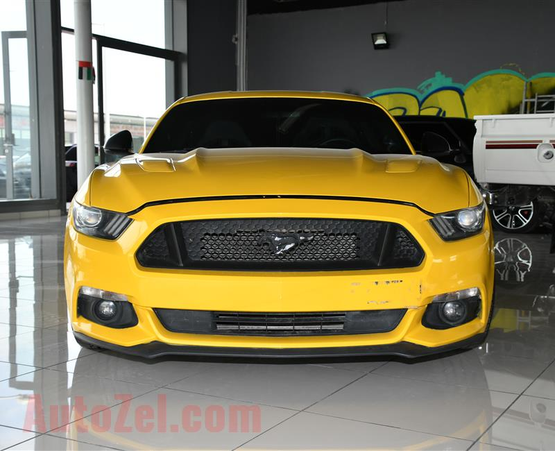 FORD MUSTANG GT- 2015- YELLOW- 197 000 KM- GCC