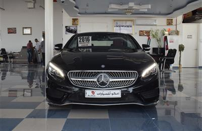 MERCEDES-BENZ S500- 2016- BLACK- 84 000 KM- GCC SPECS