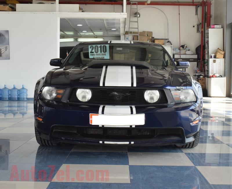FORD MUSTANG- 2010- BLUE/BLACK- 227 000 KM- GCC SPECS
