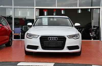 AUDI A6 MODEL 2015 - WHITE - 30,000 KM - V6 - GCC