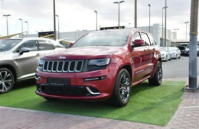 JEEP GRAND CHEROKEE SRT- 2015- MAROON- 104 000 KM- GCC