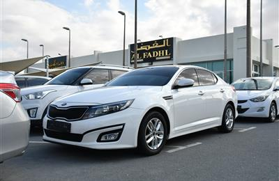 KIA OPTIMA- 2015- WHITE- 210 000 KM- GCC