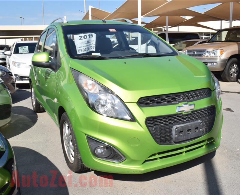 CHEVROLET SPARK MODEL 2015 - GREEN - 100000 KM - V4 - GCC