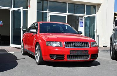 AUDI S4 MODEL 2005 - RED - 175000 KM - V4 - GCC
