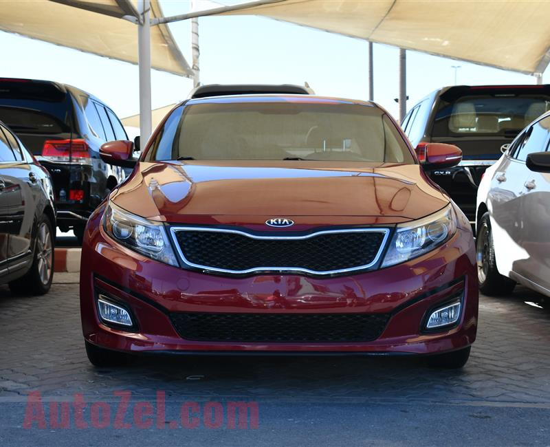 KIA OPTIMA MODEL 2014 - RED - 79,000 MILES - V4 - CAR SPECS IS AMERICAN
