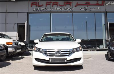 HONDA ACCORD- 2016- WHITE- 55 000 KM- GCC SPECS
