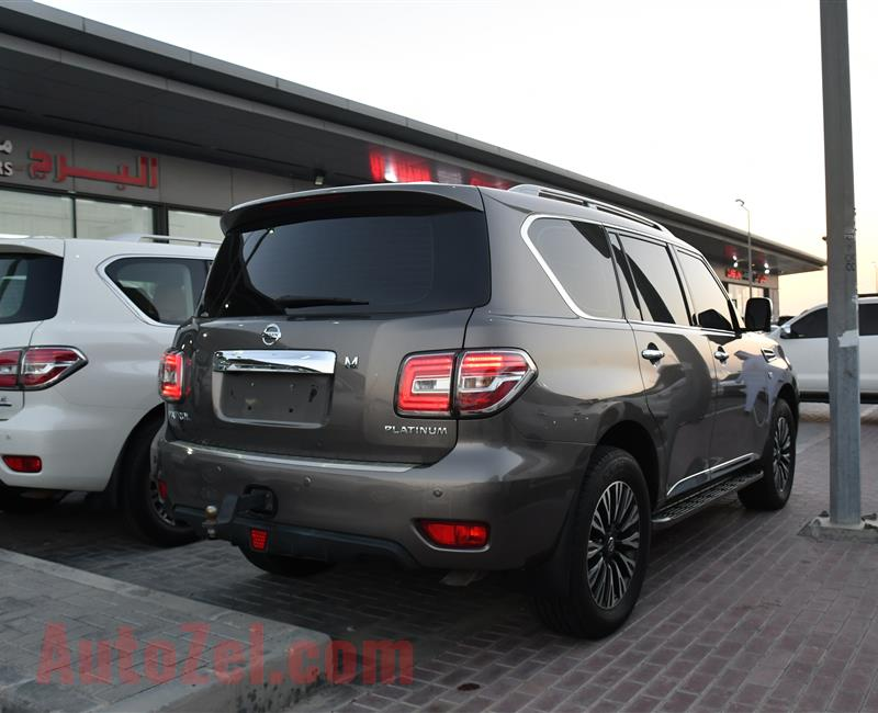 NISSAN PATROL PLATINUM SE MODEL 2016 - GREY - 164,000 KM - V8 - GCC