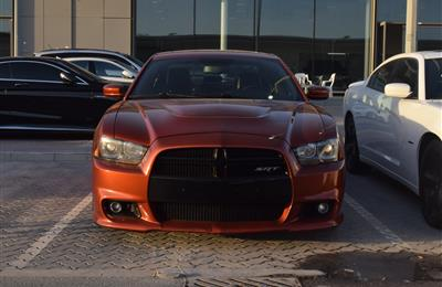 DODGE CHARGER SRT- 2013- ORANGE- 200 000 KM- GCC SPECS