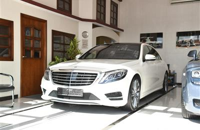 MERCEDES-BENZ S400- 2016- WHITE- 60 000 KM- GCC SPECS