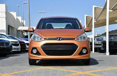 HYUNDAI i10- 2016- ORANGE- 68 000 KM- GCC SPECS