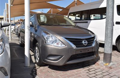 NISSAN SUNNY- 2015- BROWN- 90 000 KM- GCC SPECS