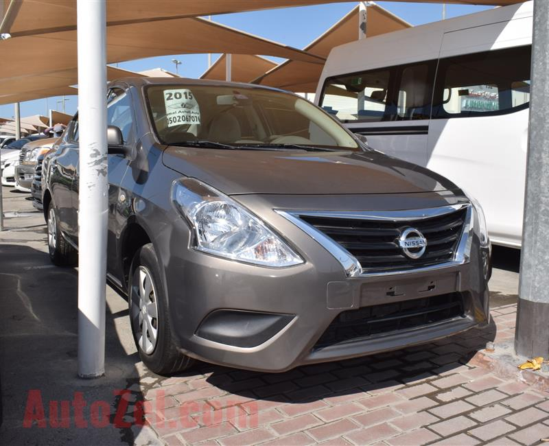 Nissan Sunny 2015 Brown 90 000 Km Gcc Specs