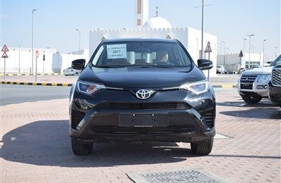 toyota rav4 model 2017 - black - 114,000 km - v6 - gcc