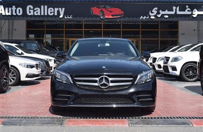 MERCEDES-BENZ C200- 2017- BLACK- 49 000 KM- GCC SPECS