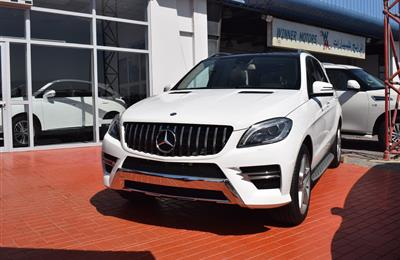 MERCEDES-BENZ ML400- 2015- WHITE- 82 000 KM- GCC SPECS