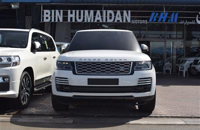 RANGE ROVER VOGUE SUPERCHARGED- 2019- WHITE- 9 000 KM- GCC...