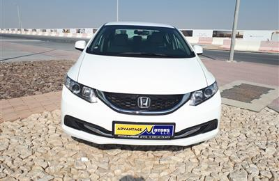 HONDA CIVIC 1.8 2015 WHITE GCC