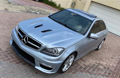 @864 Dhs Monthly Mercedes Benz C 250 2013 Light Blue