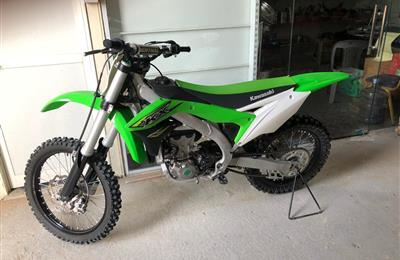 Kx450f 2018 only 18km mileage