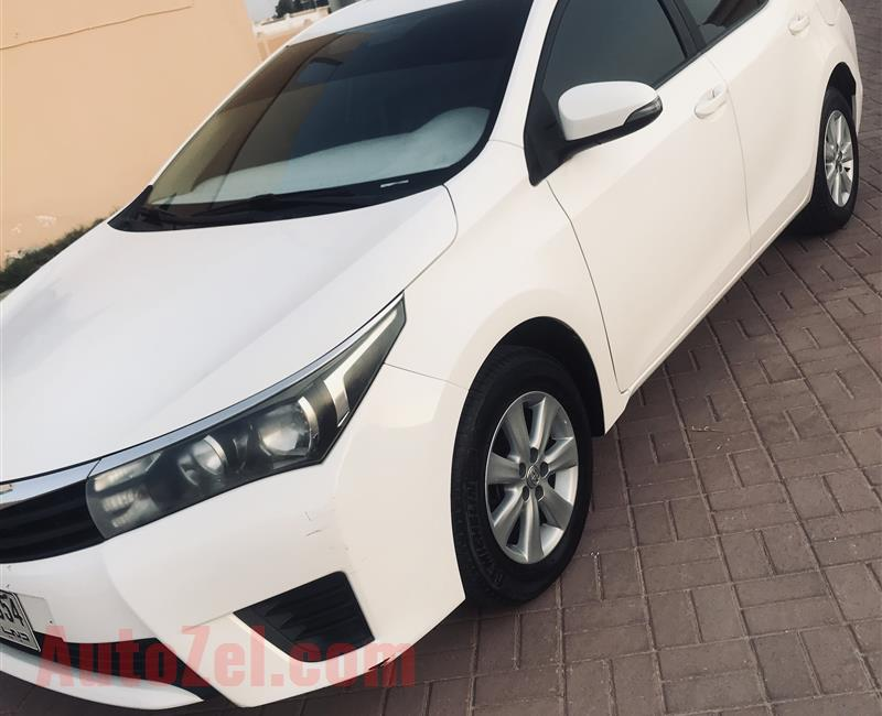 Toyota Corolla model2014 eng 2.0 gcc free accident