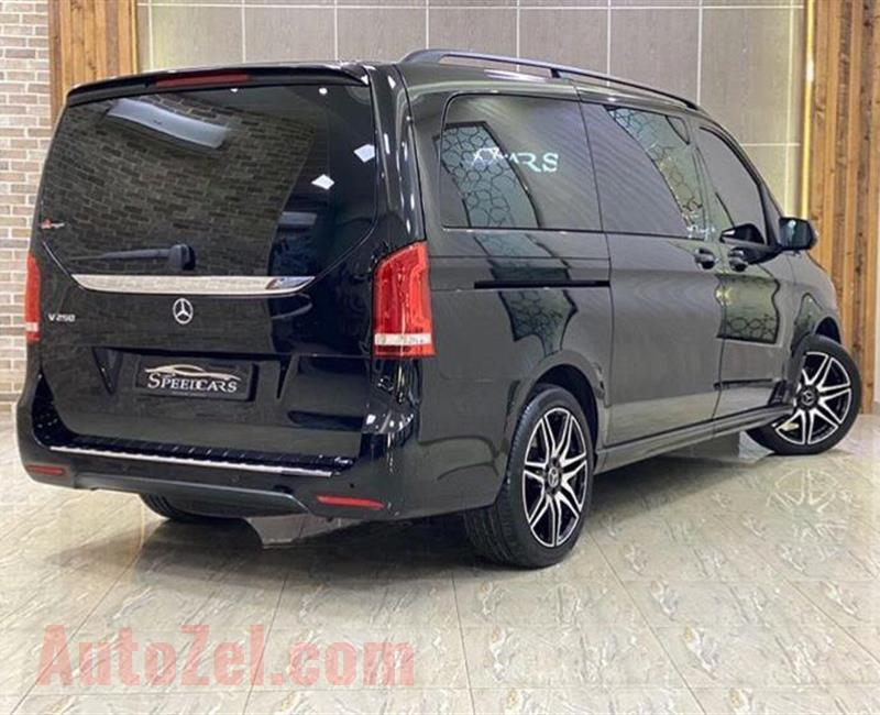 MERCEDES BENZ V250//2019//BLACK//(38000KM) WARRANTY /// SERVICES HISTORY ///AED:189000/- only