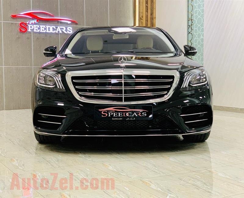 MERCEDES BENZ S560 2019 AMG BLACK GCC (4000KM)