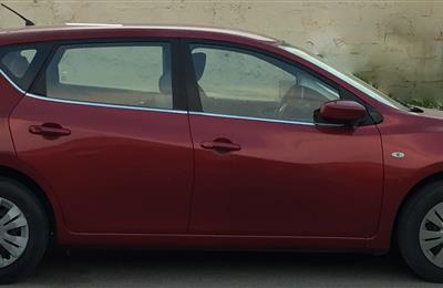 Lady Doctor owned, Red color Nissan Tiida hatchback, 1.6...