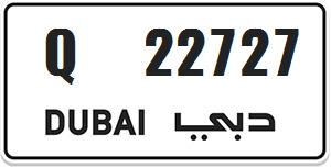 Dubai special number for sale Q 22727