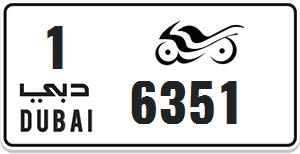 4 digit Dubai Motorcycle Plate For Sale